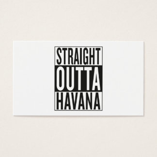 straight outta Havana Business Card