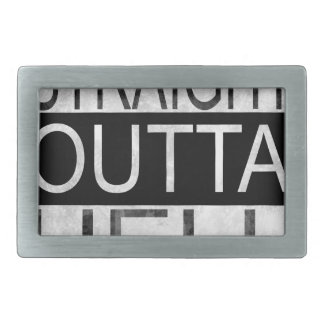 Straight outta HELL Rectangular Belt Buckles