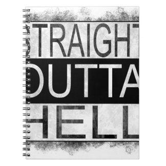 Straight outta HELL Spiral Notebook