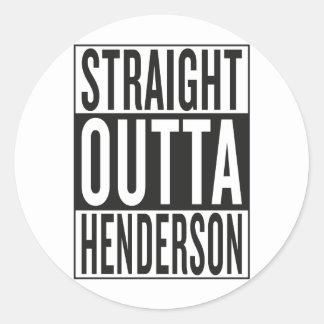 straight outta Henderson Classic Round Sticker