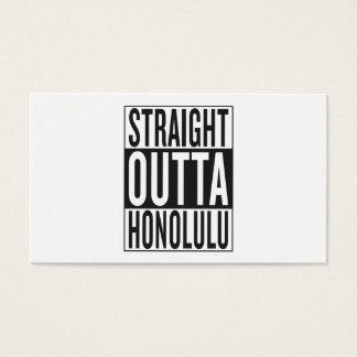 straight outta Honolulu Business Card