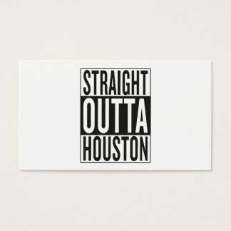 straight outta Houston Business Card