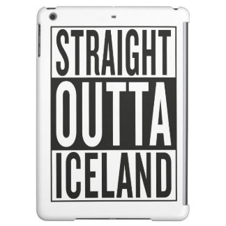 straight outta Iceland iPad Air Cover