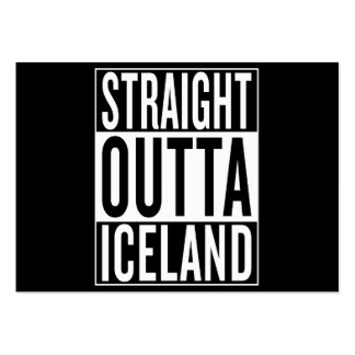 straight outta Iceland Large Business Card