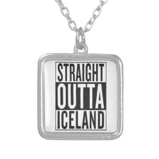 straight outta Iceland Silver Plated Necklace