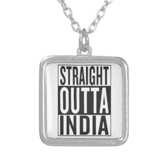 straight outta India Silver Plated Necklace