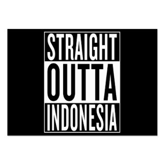 straight outta Indonesia Large Business Card