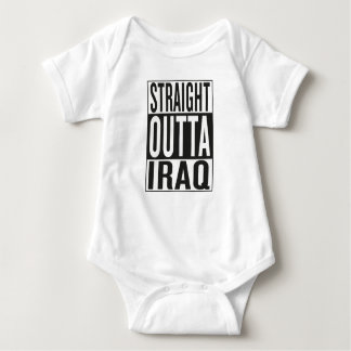 straight outta Iraq Baby Bodysuit