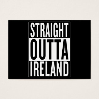 straight outta Ireland Business Card