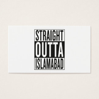 straight outta Islamabad Business Card