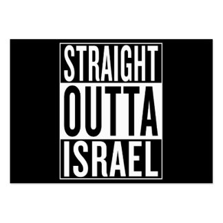 straight outta Israel Large Business Card