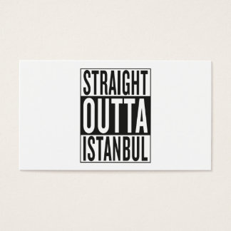 straight outta Istanbul Business Card