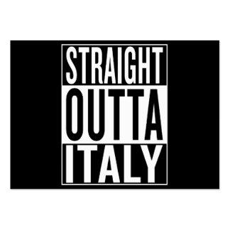 straight outta Italy Large Business Card