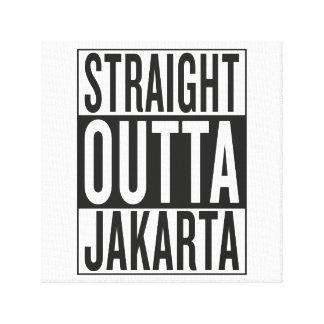straight outta Jakarta Canvas Print