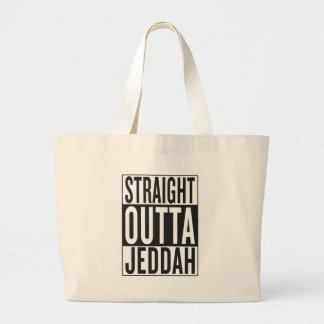 straight outta Jeddah Large Tote Bag