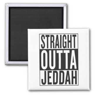 straight outta Jeddah Square Magnet