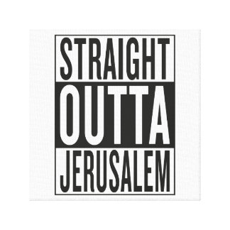straight outta Jerusalem Canvas Print
