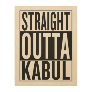 straight outta Kabul Wood Print