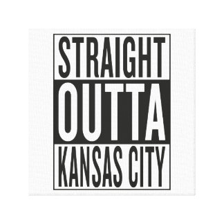 straight outta Kansas City Canvas Print