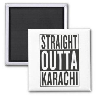 straight outta Karachi Square Magnet