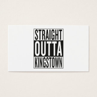 straight outta Kingstown Business Card