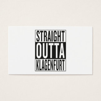 straight outta Klagenfurt Business Card