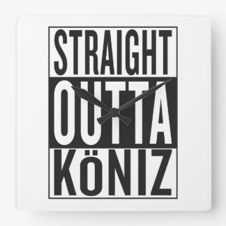 straight outta Köniz Square Wall Clock