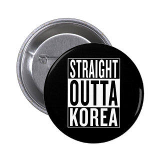 straight outta Korea 2 Inch Round Button