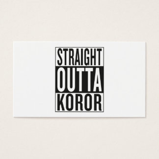 straight outta Koror Business Card