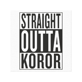 straight outta Koror Canvas Print