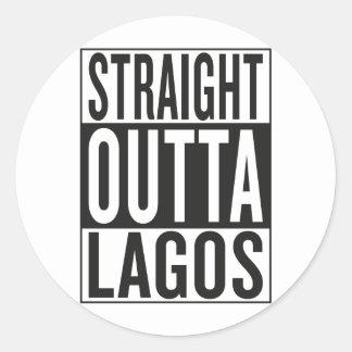straight outta Lagos Classic Round Sticker