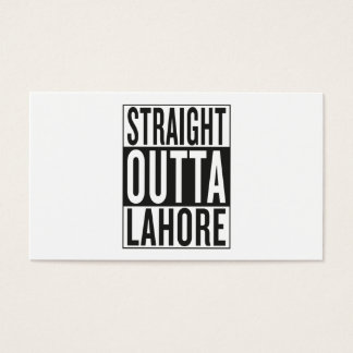 straight outta Lahore Business Card