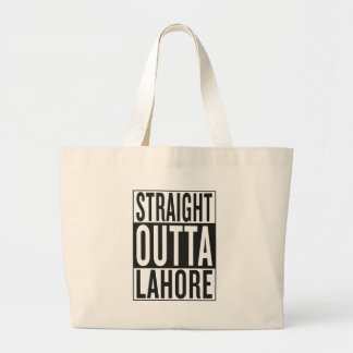 straight outta Lahore Large Tote Bag
