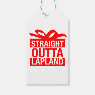 Straight Outta Lapland Gift Tags