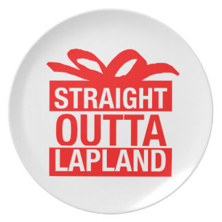 Straight Outta Lapland Plate