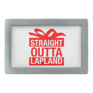 Straight Outta Lapland Rectangular Belt Buckle