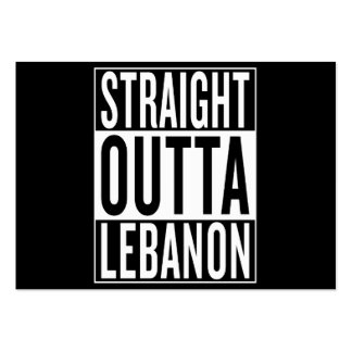 straight outta Lebanon Large Business Card