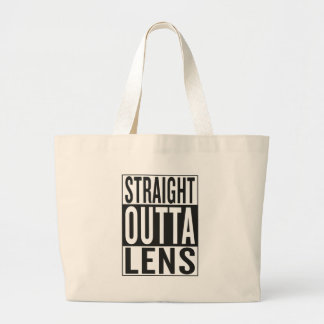 straight outta Lens Large Tote Bag