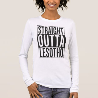 straight outta Lesotho Long Sleeve T-Shirt