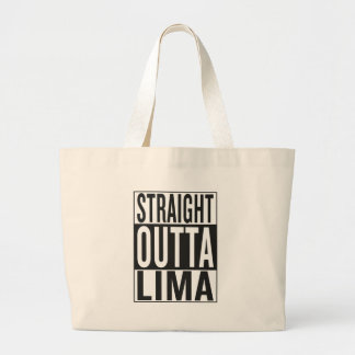 straight outta Lima Large Tote Bag