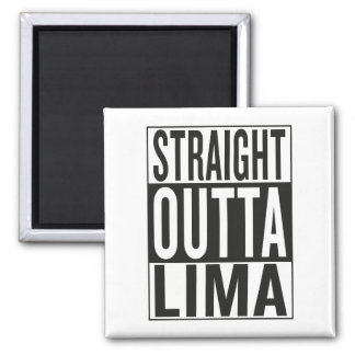 straight outta Lima Square Magnet