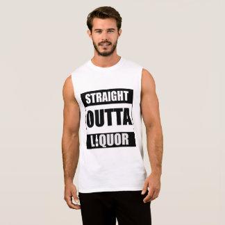 Straight Outta Liquor Funny Novelty Sleeveless Shirt