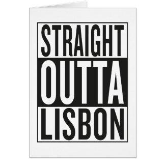 straight outta Lisbon Card