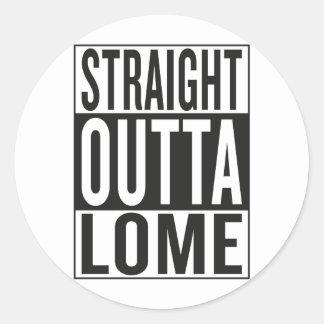 straight outta Lome Classic Round Sticker