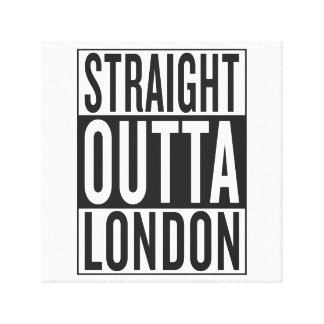 straight outta London Canvas Print