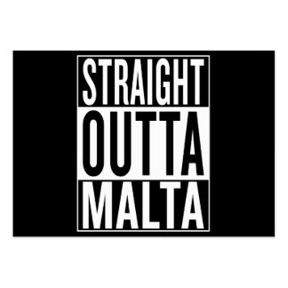 straight outta Malta Large Business Card