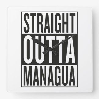 straight outta Managua Clocks