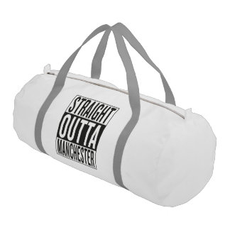 straight outta Manchester Gym Bag