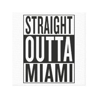 straight outta Miami Canvas Print
