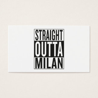 straight outta Milan Business Card